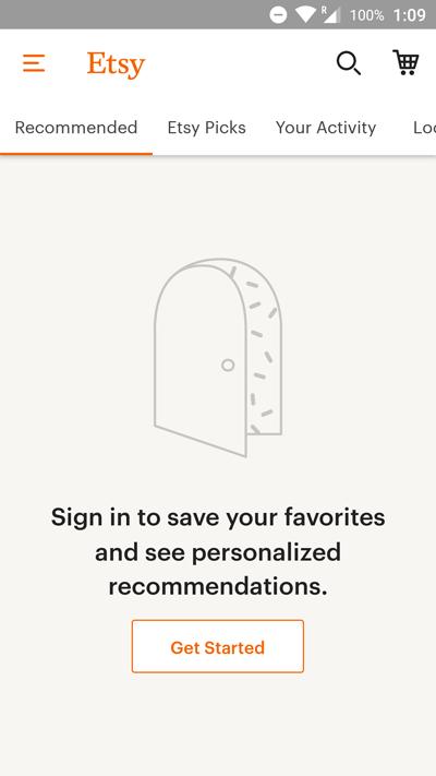 App UX: Esty App Personalization | Leanplum