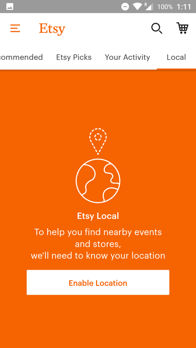 app engagement etsy geolocation
