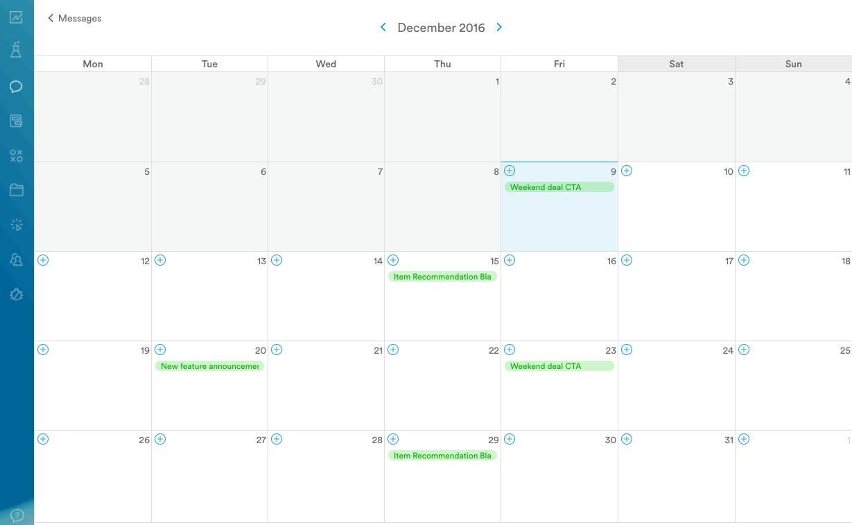 marketing automation calendar