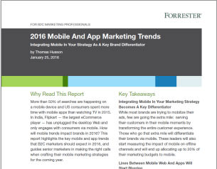 Forrester 2016 Mobile & App Marketing Trends
