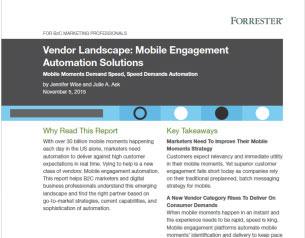 Forrester's Vendor Landscape: Mobile Engagement Automation Solution