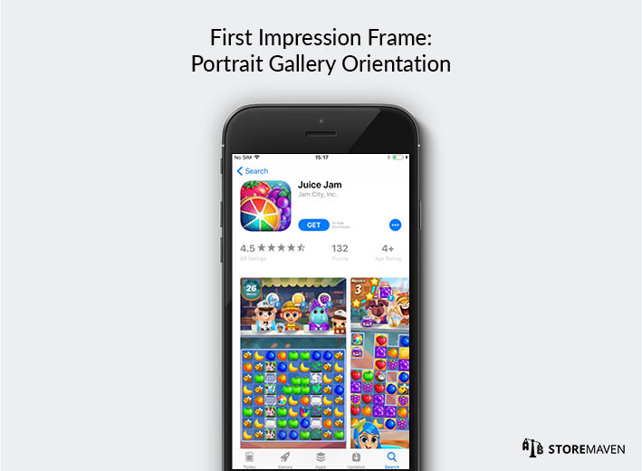 iOS 11 App Store: First Impression Frame with Portrait Gallery