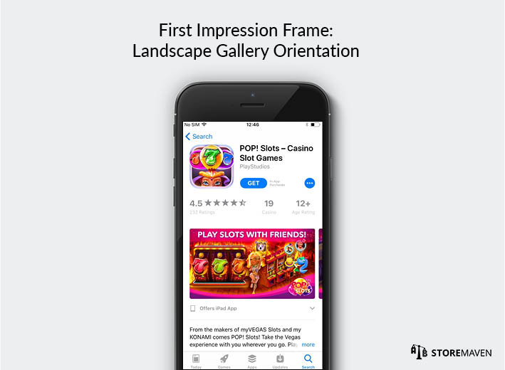 iOS 11 App Store: First Impression Frame With Landscape Gallery