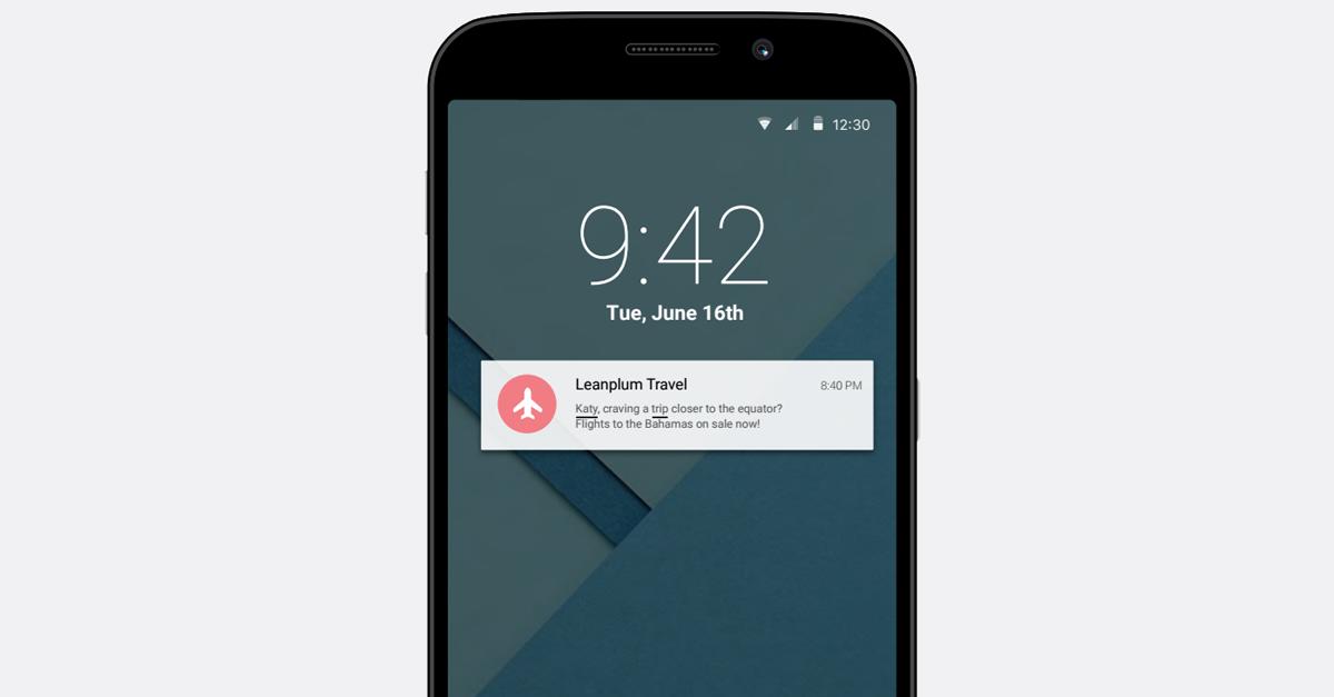 deep linking push notifications travel | Leanplum
